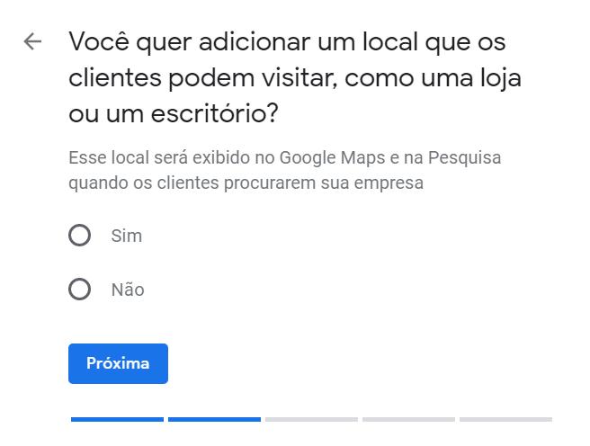 """Cadastro no Google Meu Negócio - """"Escolha se você quer deixar visível seu endereço"""""""