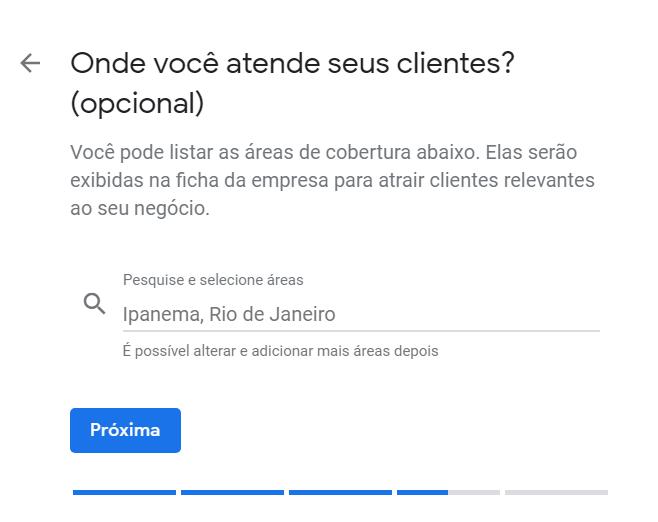 """Cadastro no Google Meu Negócio - """"Onde você atende os clientes"""""""